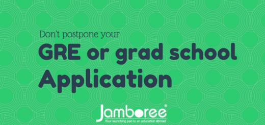 Don't postpone your GRE or grad school application