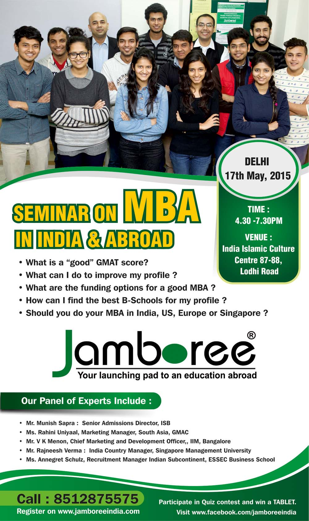 seminar on mba in abroad jamboree education