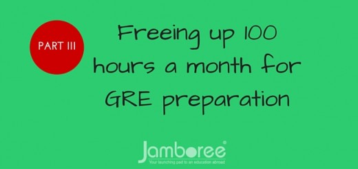 Freeing up 100 hours a month for GRE preparation part 3