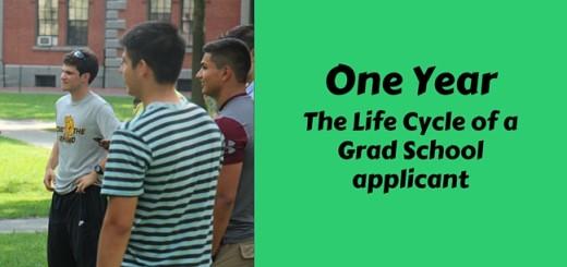 The Life Cycle of a Grad School applicant