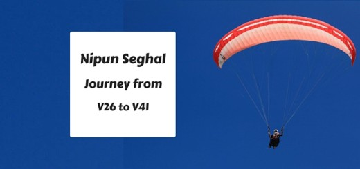 Nipun Seghal Journey from V26 to V41